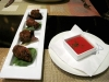Stuffed dates with piquillo pepper sauce